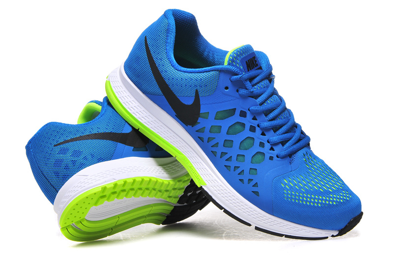 half off 1edb6 0777f Nike Air Zoom Pegasus 31 Blue White Fluorscent Running Shoes