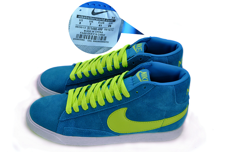 Nike Blazer 1 High Blue Volt Men's Shoes