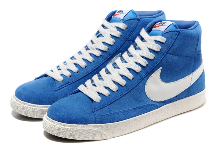 Nike Blazer 1 High Blue White Shoes