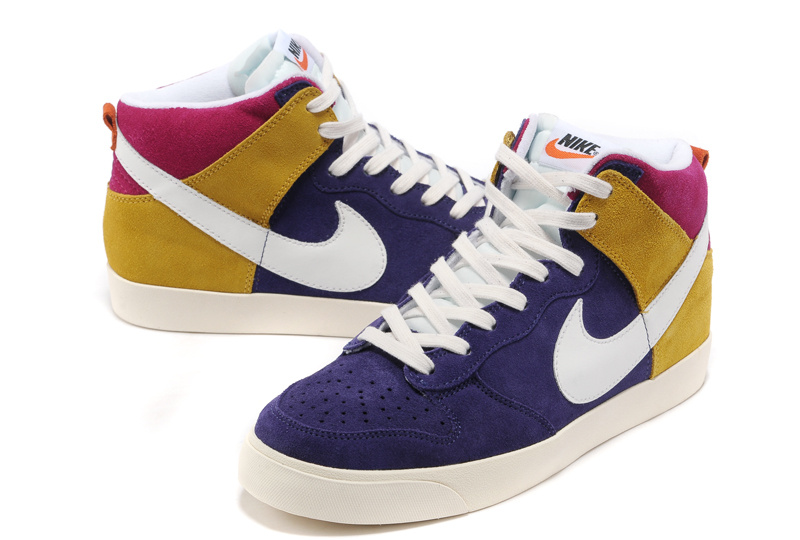 Nike Blazer 1 High Blue Yellow White Shoes