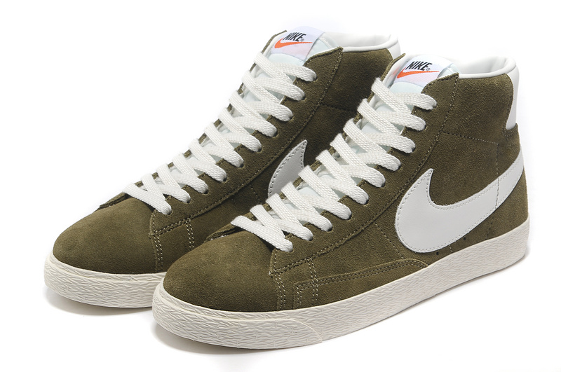 Nike Blazer 1 High Green Brown White Shoes