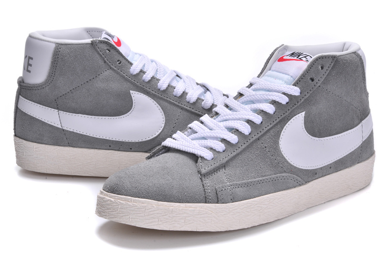 Nike Blazer 1 High Grey White Men's Shoes