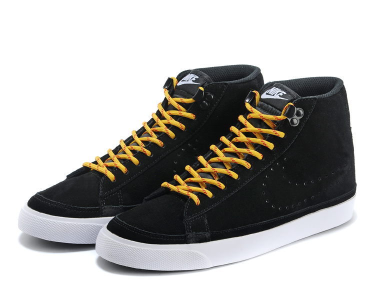 Nike Blazer 2 High Black Yellow White Shoes