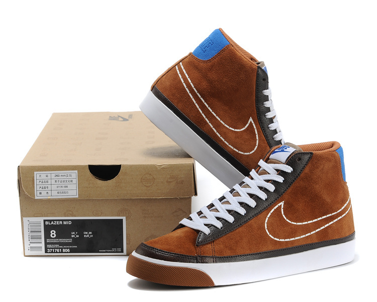 Nike Blazer 2 High Brown Black White Shoes