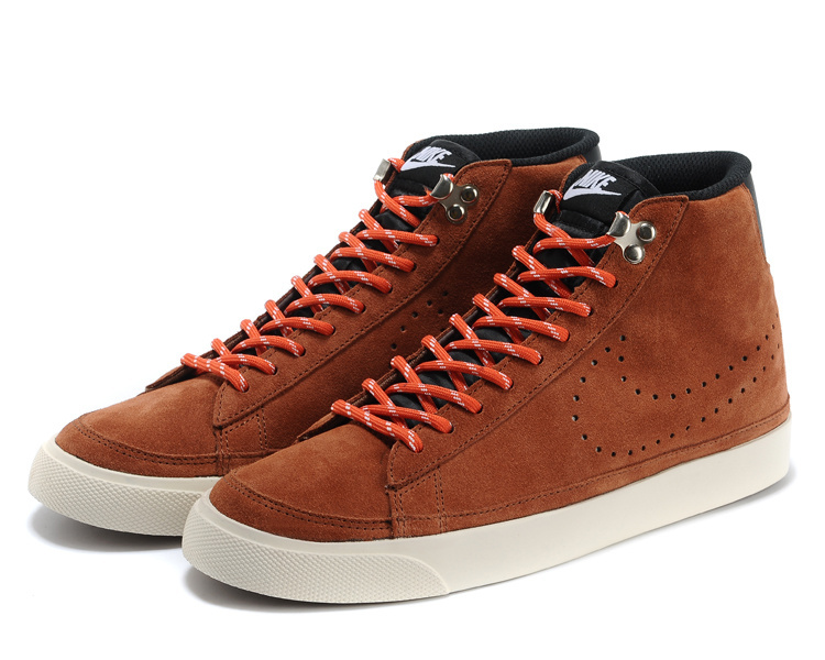 Nike Blazer 2 High Brown Reddish Orange Shoes