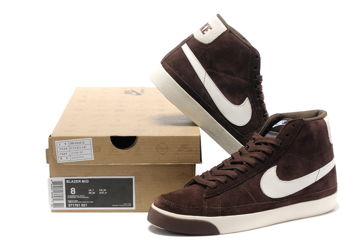 Nike Blazer 2 High Dark Brown White Shoes