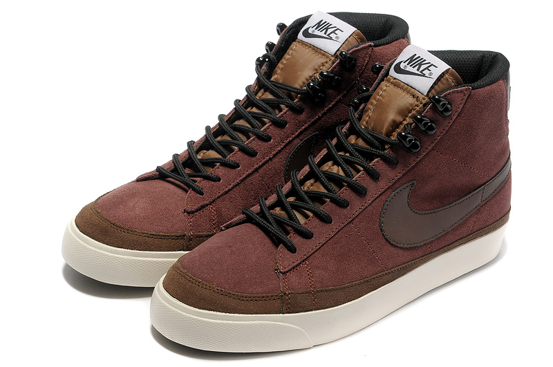 Nike Blazer 2 High Suede Coffe Red Black Shoes