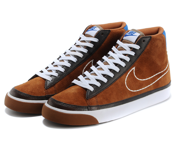 Nike Blazer 2 High Suede 1689 Brown Black White Shoes