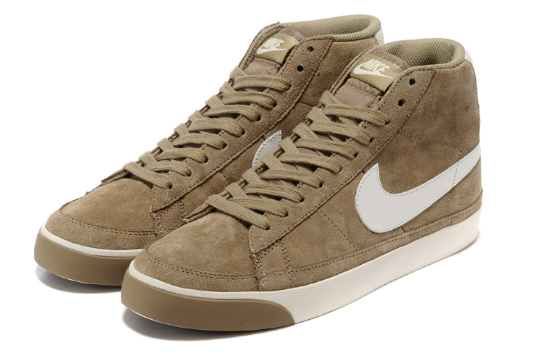Nike Blazer 2 High Suede 1689 Brown White Shoes