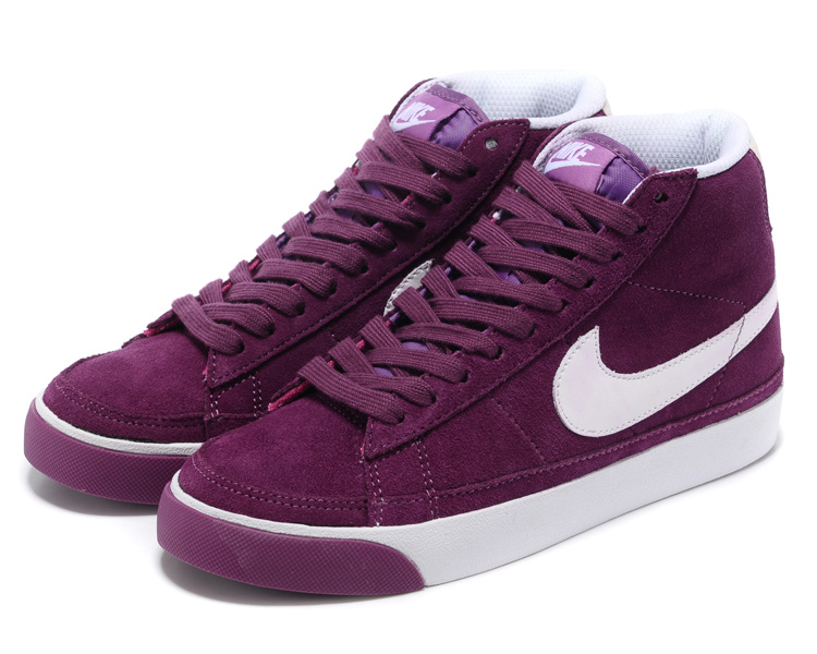 Nike Blazer 2 High Suede 1689 Red Purple White Men's Shoes