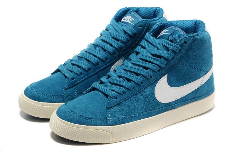 Nike Blazer 2 High Suede 1689 Sky Blue White Shoes