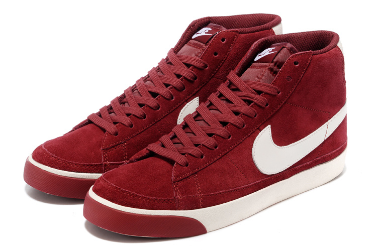 Nike Blazer 2 High Suede 1689 Wine Red Shoes
