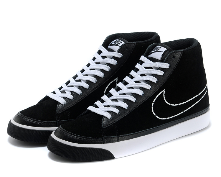 Nike Blazer 2 High Suede Black White Shoes