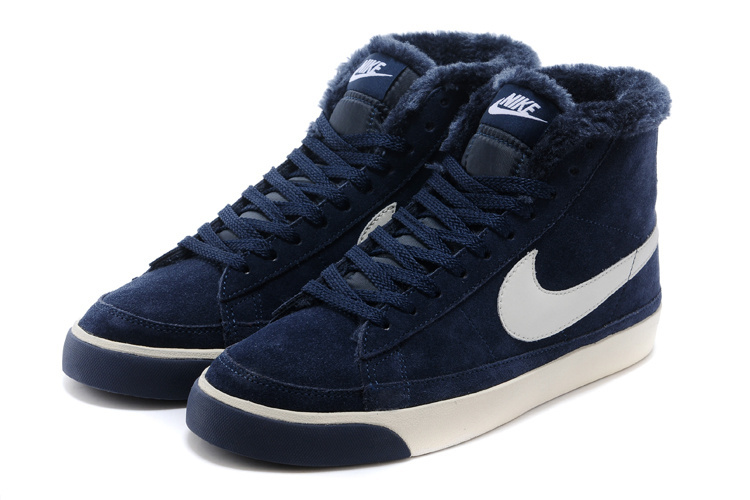 Nike Blazer 2 High Wool Dark Blue White Shoes