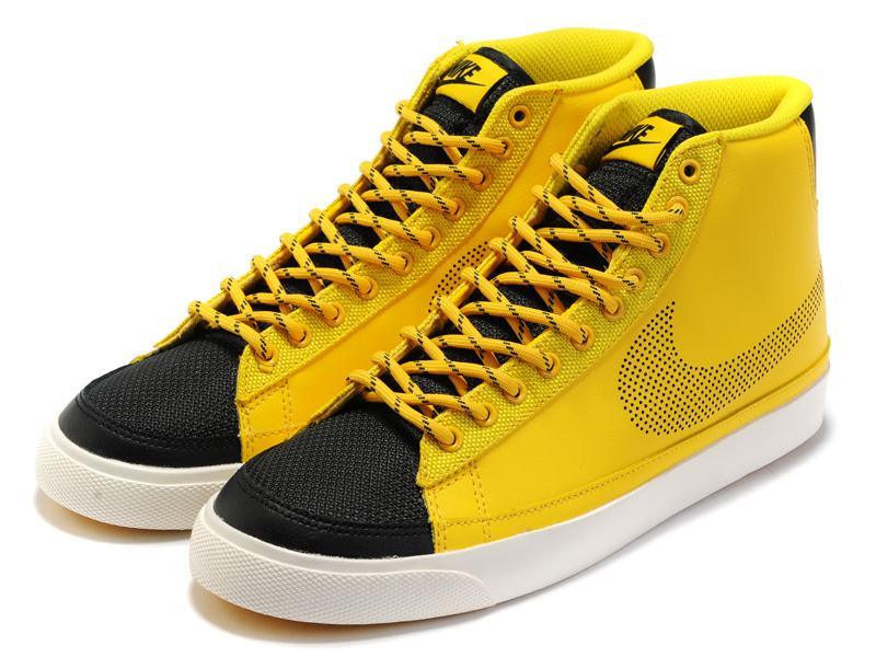 Nike Blazer 2 High Yellow Black Shoes