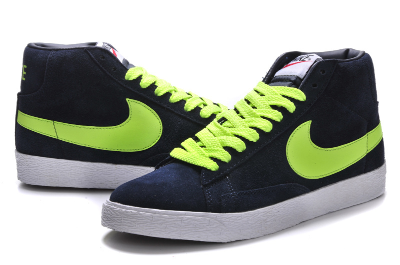 Nike Blazer High Black Green White Shoes