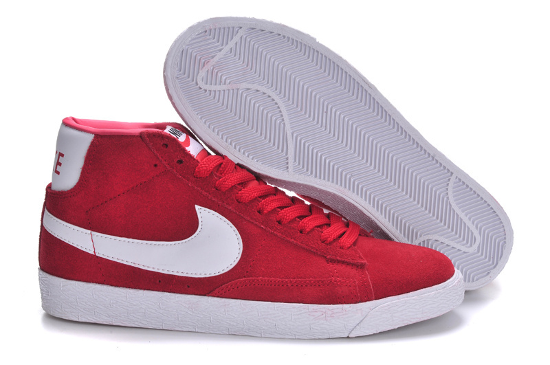 Nike Blazer High Dark Red White Shoes