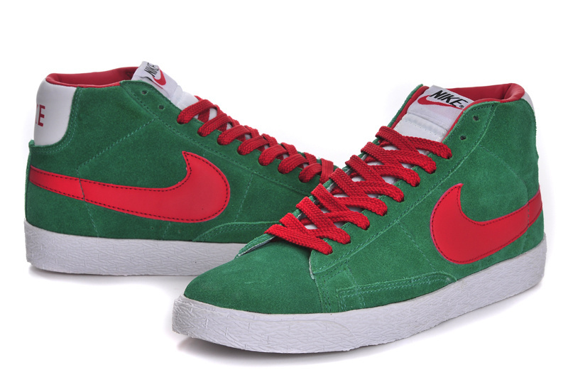 Nike Blazer High Green Red Men'ss Shoes
