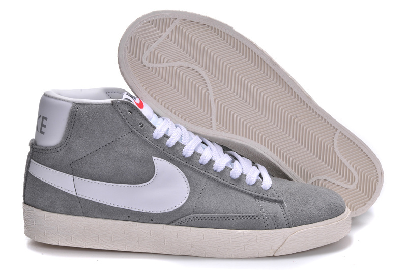 Nike Blazer High Light Grey White Shoes