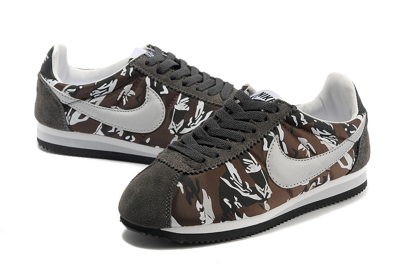Women Nike Classic Cortez Nylon PRM Grey Camouflage Shoes