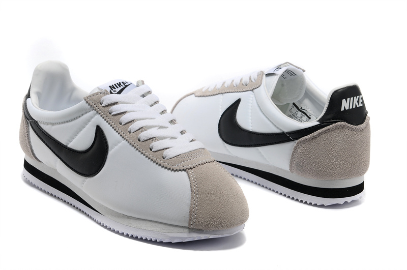 Nike Classic Cortez Nylon White Grey Black Shoes