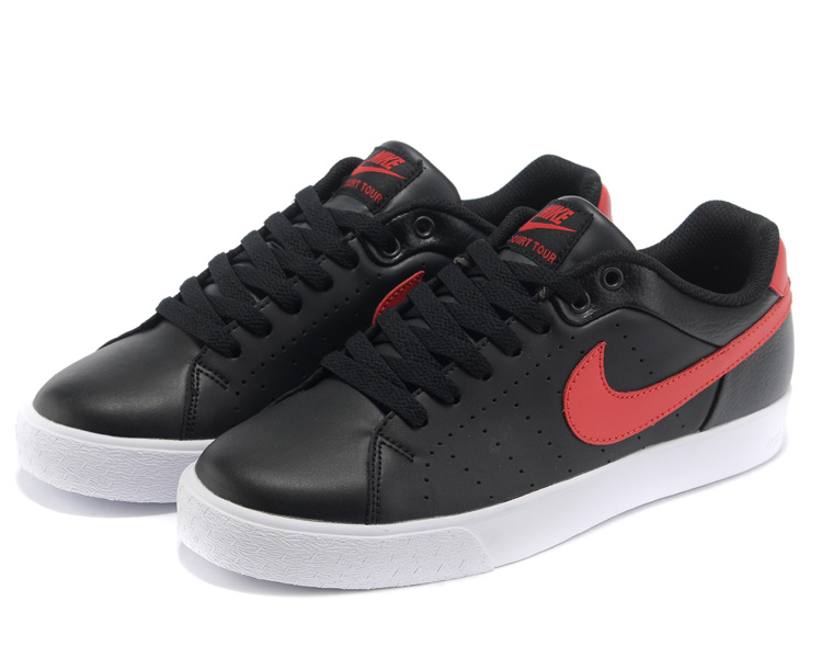 Nike Court Tour 1972 Low Black Red Shoes