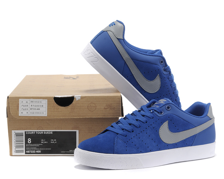 Nos vemos Colonos una vez  Nike Court Tour 1972 Low Blue Grey Shoes [Nike2978] - $68.00 : Real Nike  Running Shoes, Nike Running Shoes