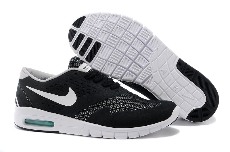 Nike Eric Koston 2 Max Shoes Black White Nike Air Logo