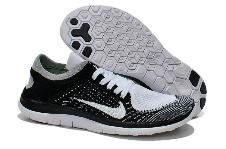 huge discount 9a7aa 20453 Nike Free 4.0 Flyknit White Black White Running Shoes