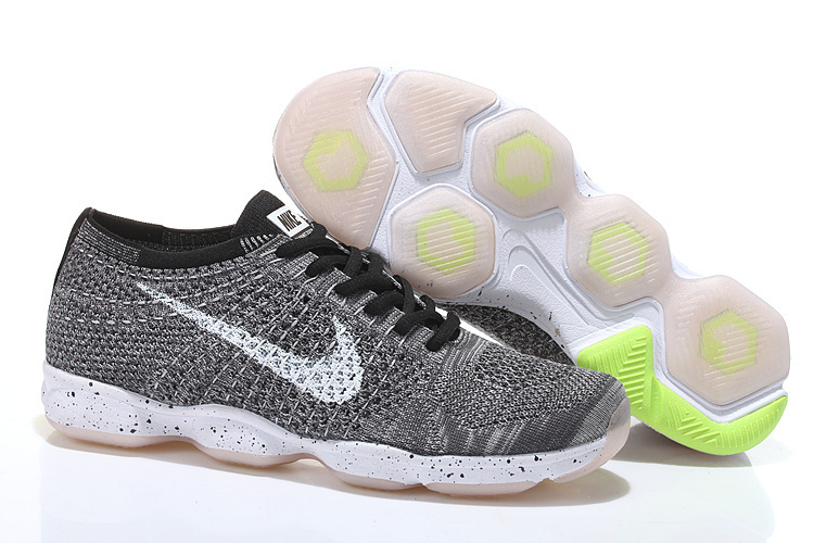 Nike Flyknit Agility Grey Black White Running Shoes