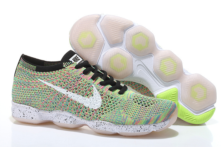 Nike Flyknit Agility Light Green Black White Running Shoes