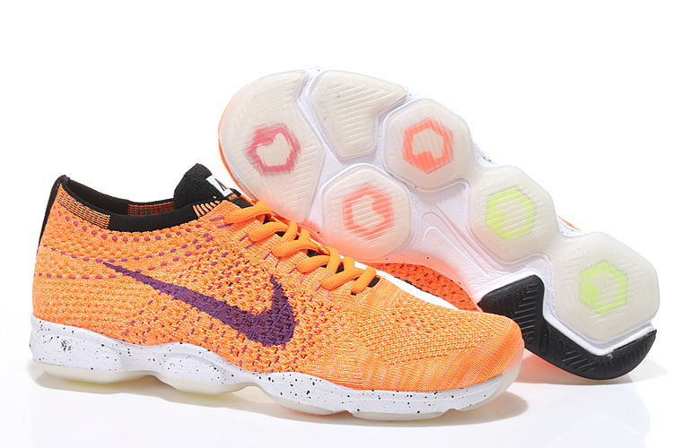 Nike Flyknit Agility Orange Purple Running Shoes