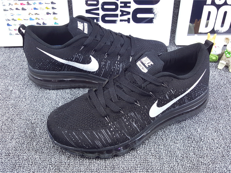 Nike Flyknit Air Max 2014 All Black Shoes