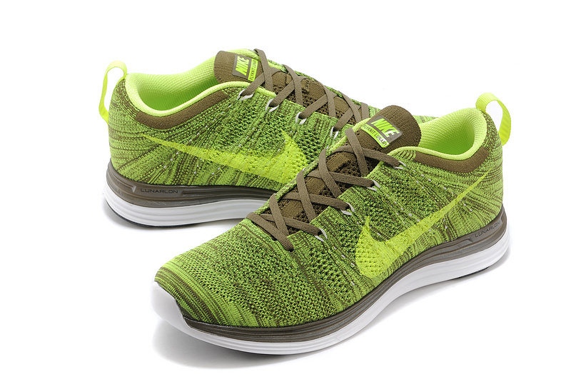 Nike Flyknit Lunar 1 Green Brown Shoes
