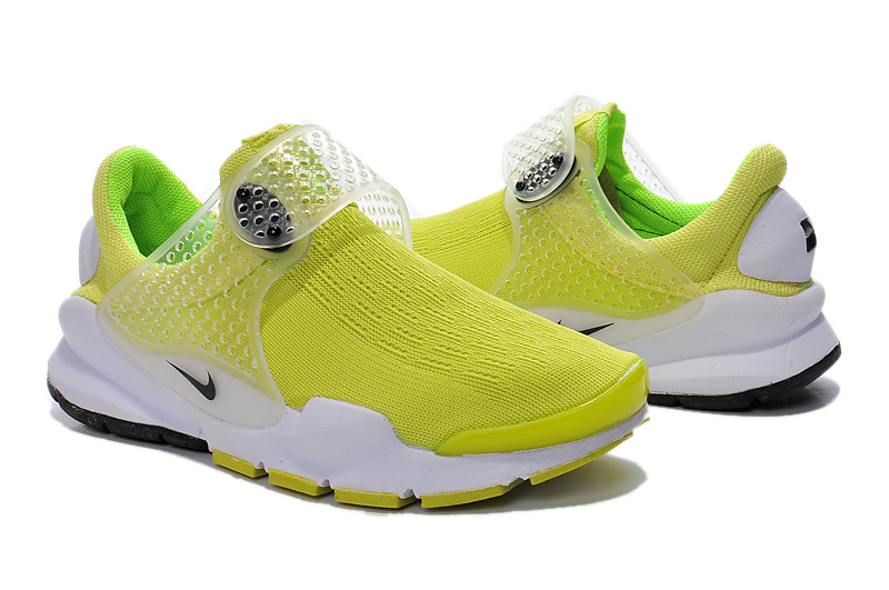 Nike Fragment Design Sock Dart SP Yellow White Shoes For Women