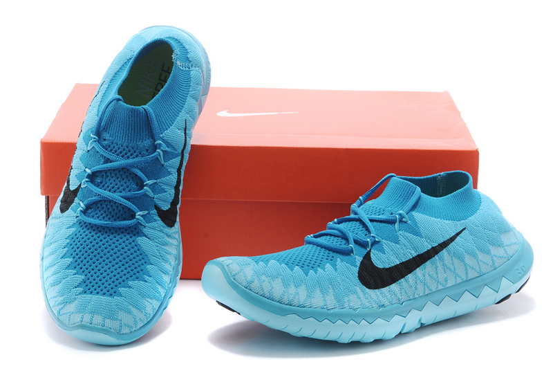 Nike Free 3.0 Flyline Baby Blue Black Running Shoes