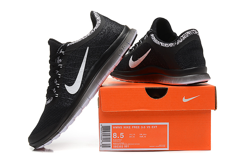 Nike Free 3.0 V5 EXT Black White Shoes