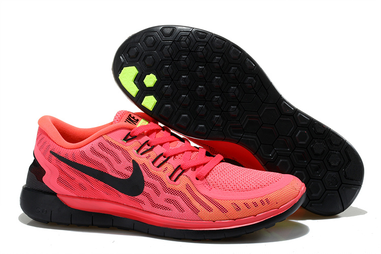 Women Nike Free 5.0+2 Pink Black Shoes