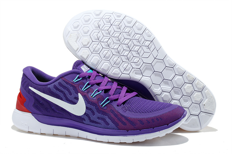 Women Nike Free 5.0+2 Purple White Shoes