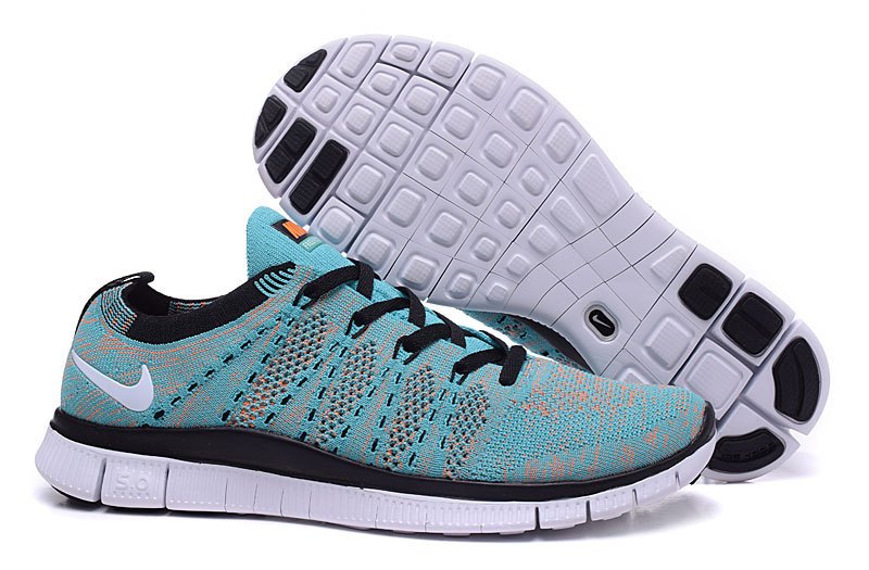 Nike Free 5.0 Flyknit Blue Black Shoes