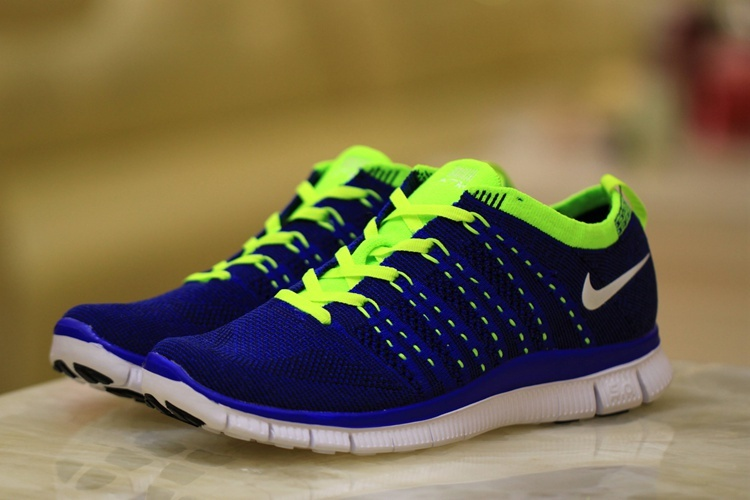Nike Free 5.0 Flyknit Blue Volt Shoes