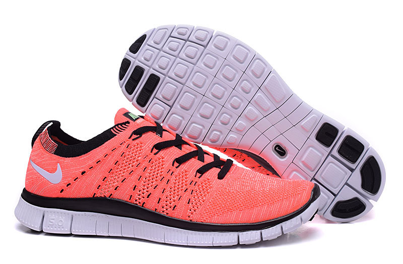 9efe27427b7 Nike Free 5.0 Flyknit Redish Orange Black Women Shoes  Nike2850 ...