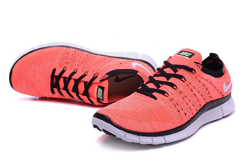 wholesale dealer 35a82 de513 Nike Free 5.0 Flyknit Redish Orange Black Women Shoes