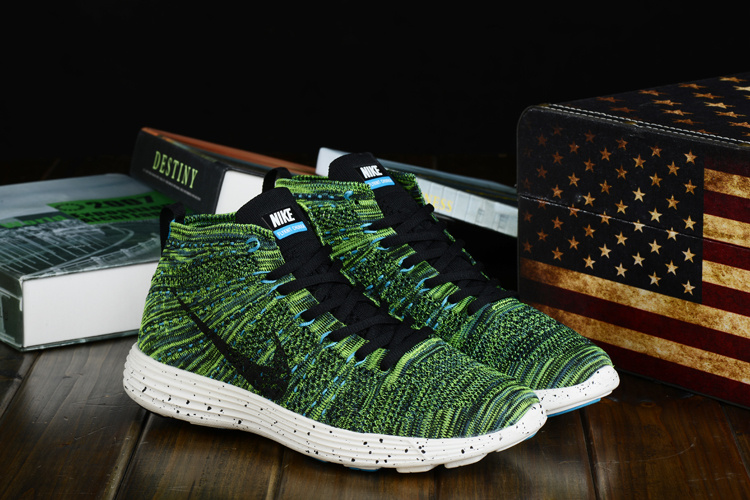 a098bfcdf140 Nike Free Flyknit High Dark Green Black Women Shoes  Nike2852 ...