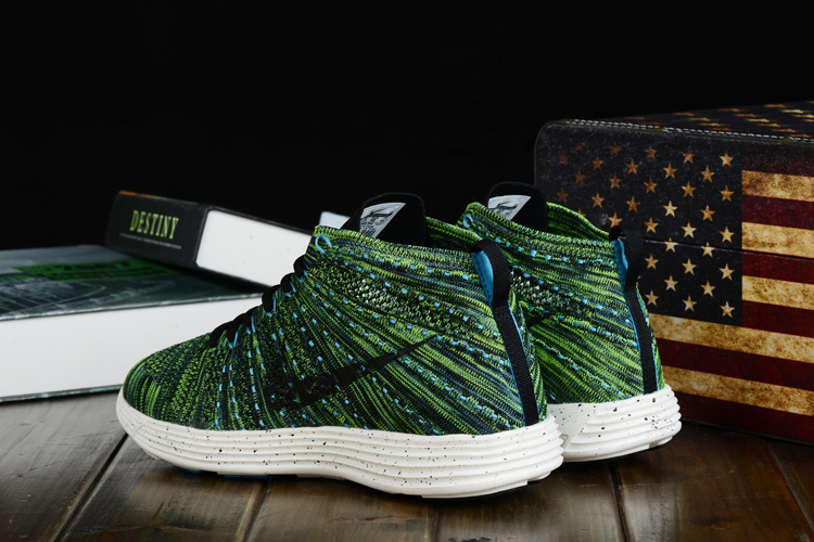 Nike Free Flyknit High Dark Green Black Women Shoes
