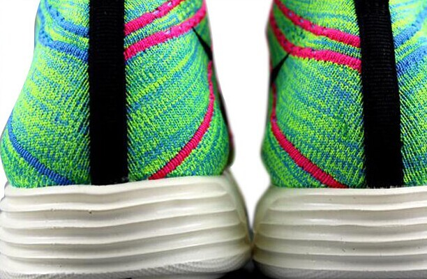 Nike Free Flyknit High Green Red Black Women Shoes