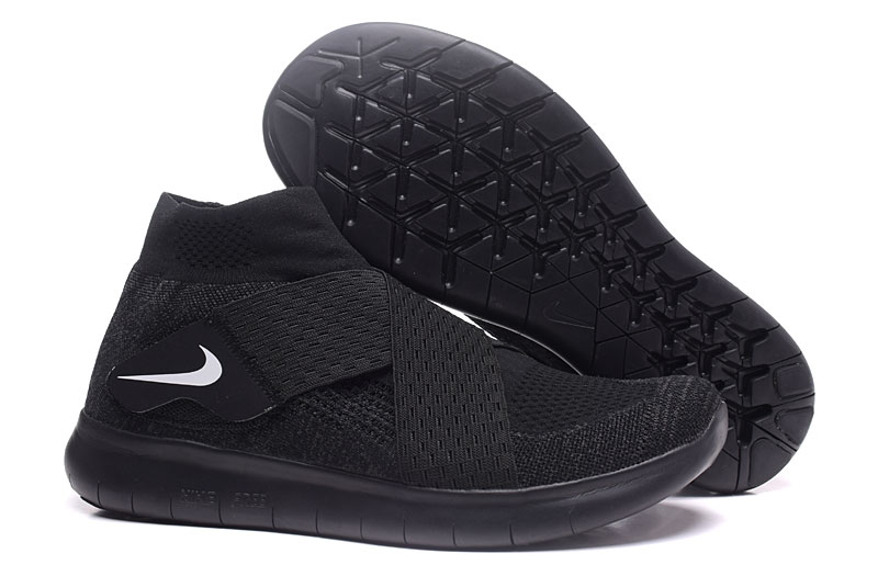 Nike Free RN Motion FK 2017 All Black Running Shoes
