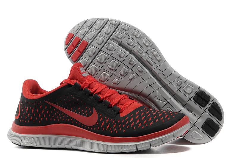 Nike Free 3.0 V4 Running Shoes Black Red