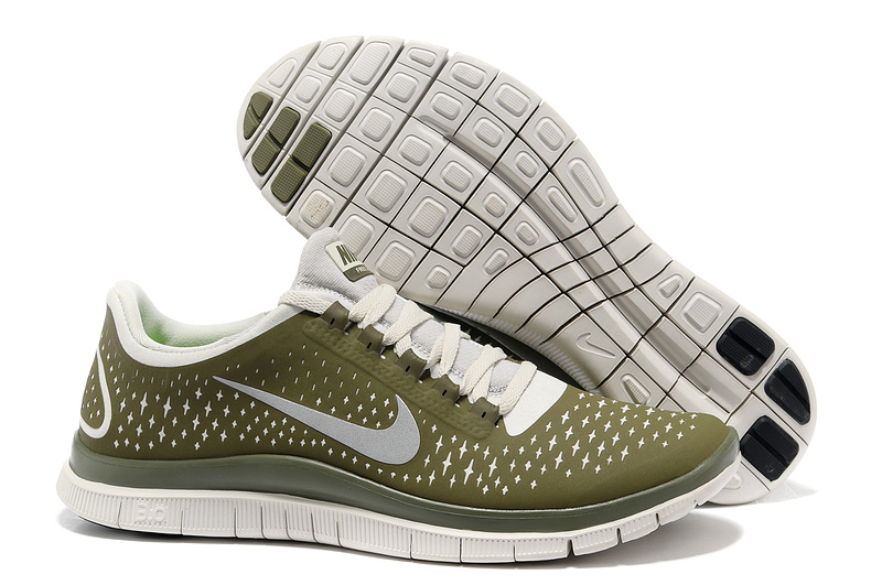 Nike Free 3.0 V4 Running Shoes Dark Green Grey
