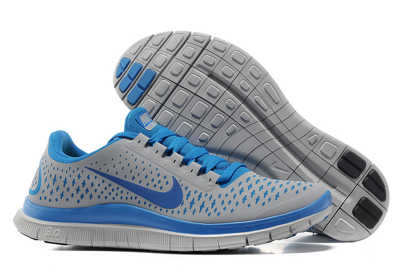 Nike Free 3.0 V4 Running Shoes Grey Blue